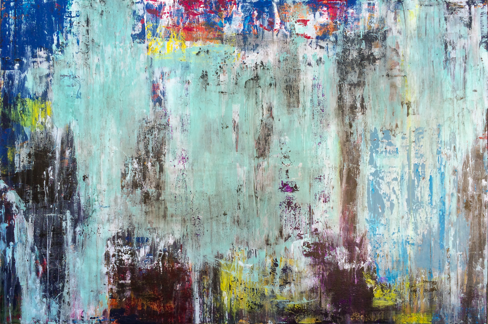Extra large contemporary abstract art for urban loft; oversized original modern industrial painting