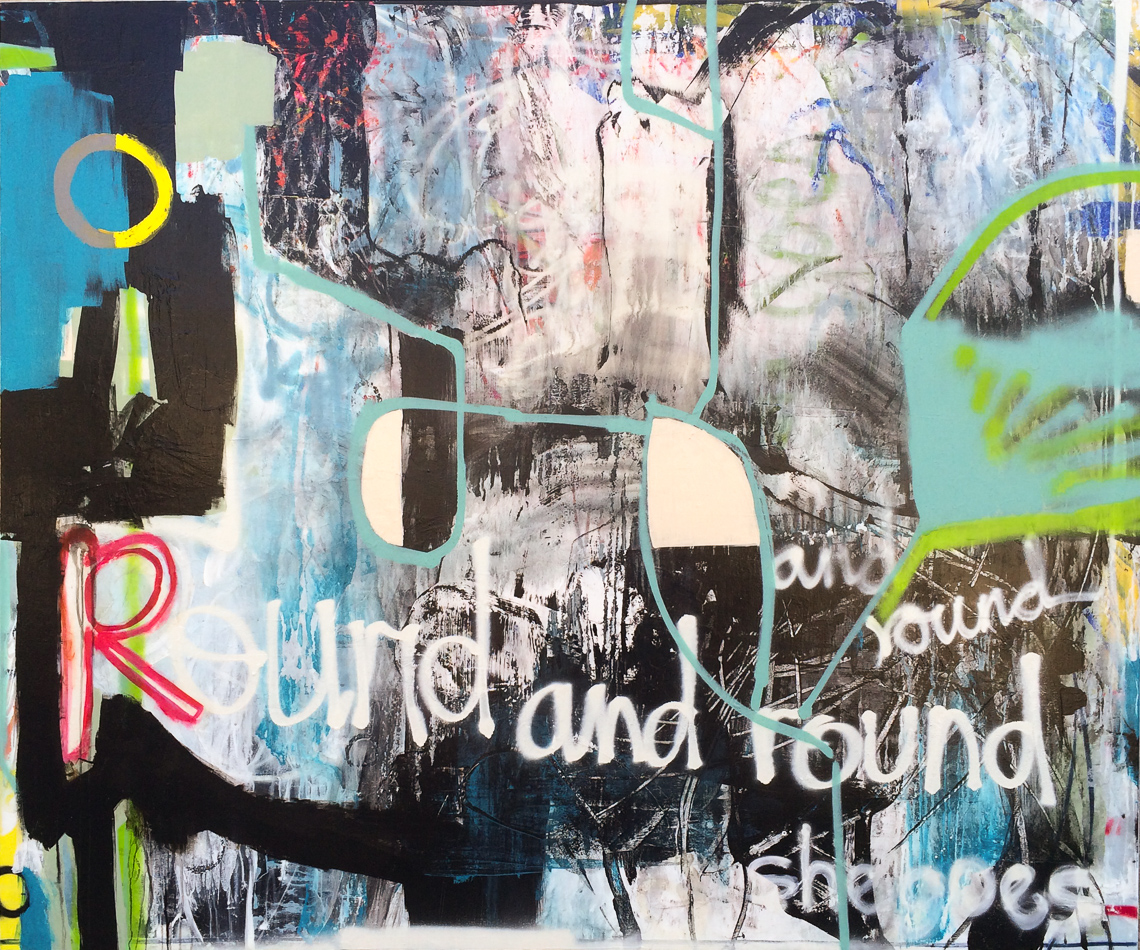 Extra large contemporary abstract painting oversized graffiti