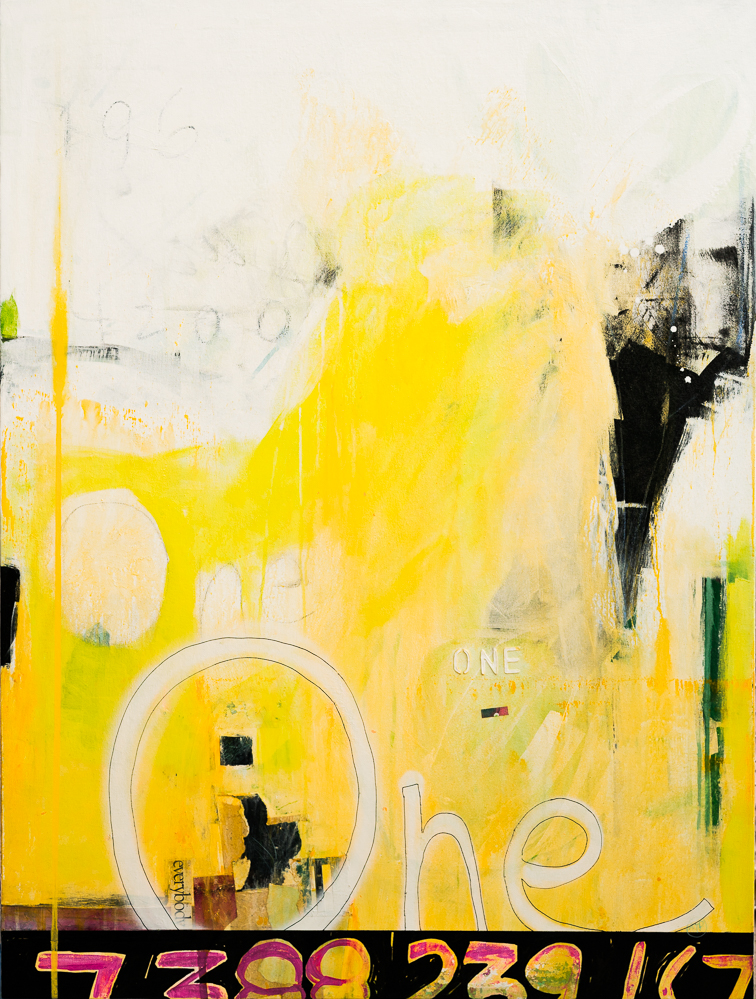 Large Yellow White Contemporary Abstract Modern Urban Industrial Loft Art Painting ONE-DSC6828