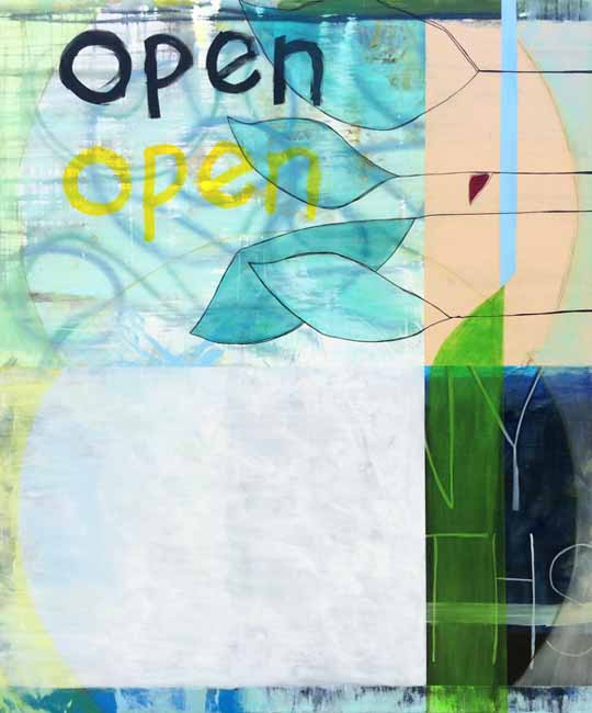 Extra Large Oversized Contemporary Modern Abstract Art Loft Painting Urban Industrial Graffiti Street Text Laura Letchinger OPEN q30p650-