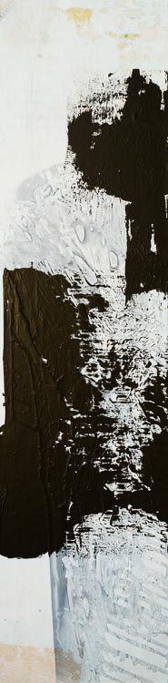 Large Contemporary Abstract Painting Black White Urban Industrial Gritty Street Graffiti Loft Art Modern Laura Letchinger THAW vertical 3065