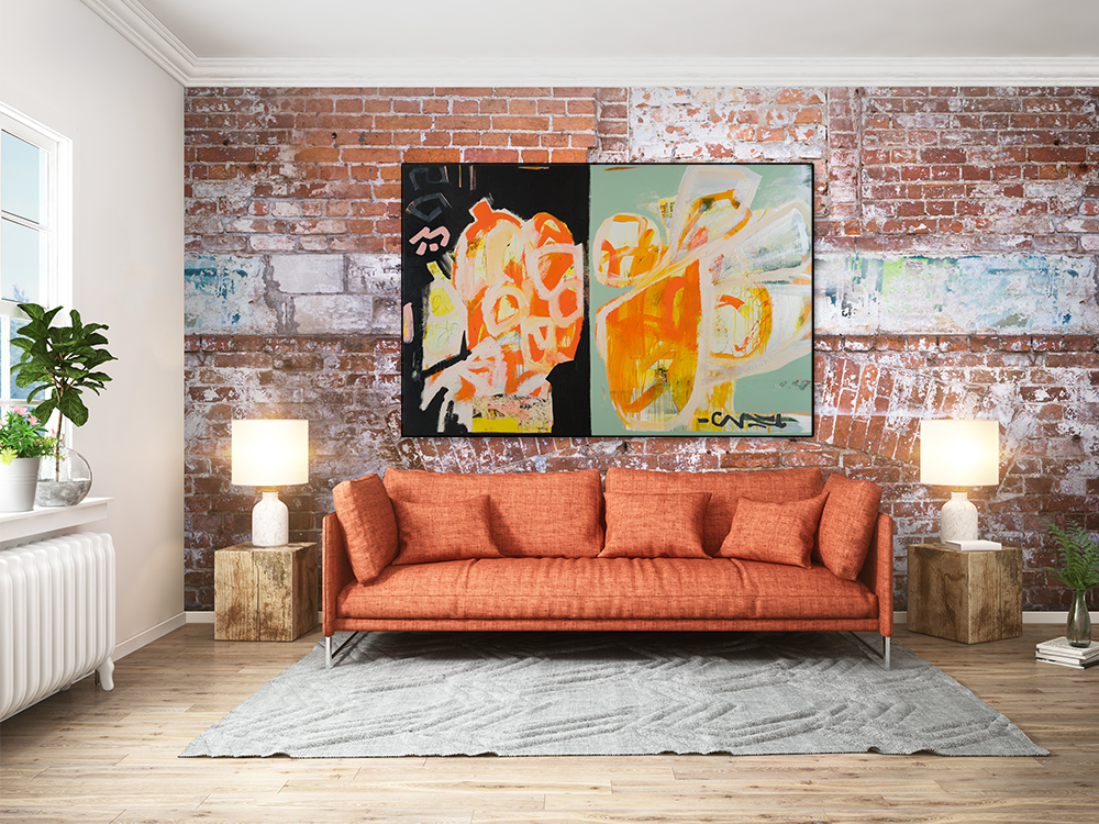 Large Contemporary Mid Century Painting LauraLetchinger_DUAL_48x72