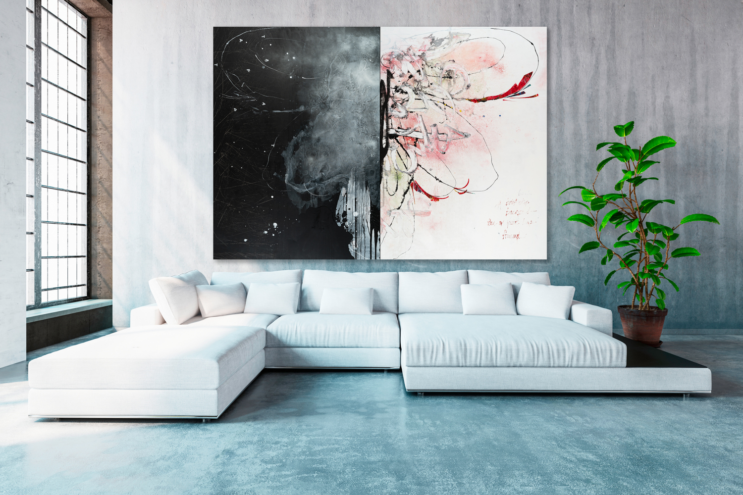 large contemporary abstract paintings oversized urban loft art for