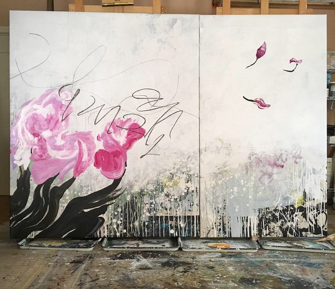 large contemporary art for sale direct from abstract artist Laura Letchinger in los angeles