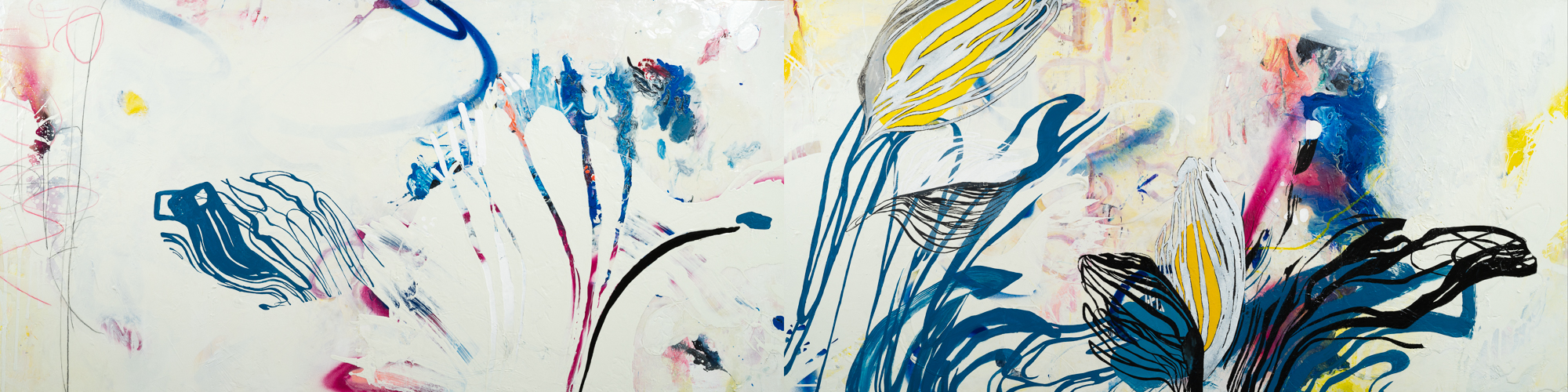Laura Letchinger Los Angeles Artist Original Large Contemporary Abstract Art and Large Loft Paintings with Urban Expressionism and Street Graffiti Edge
