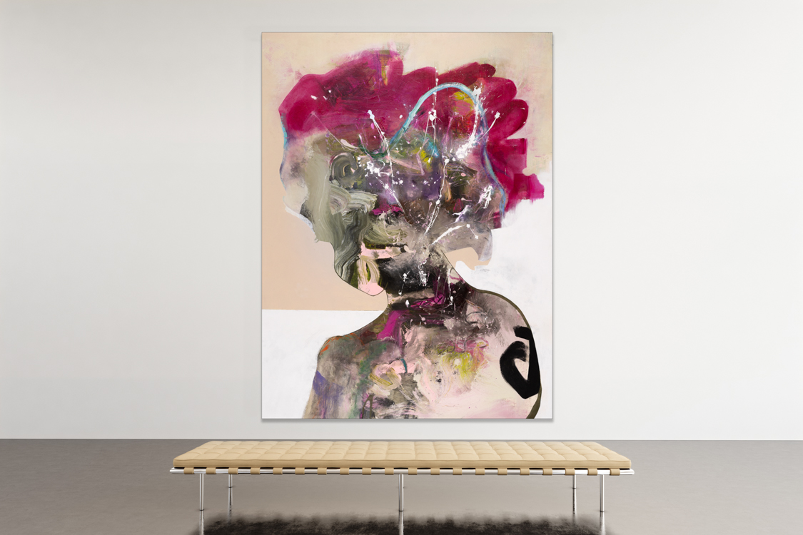 Oversized Contemporary Urban Abstract Expressionism Paintings and Large Loft Art Laura Letchinger INFINITY-2 mockup