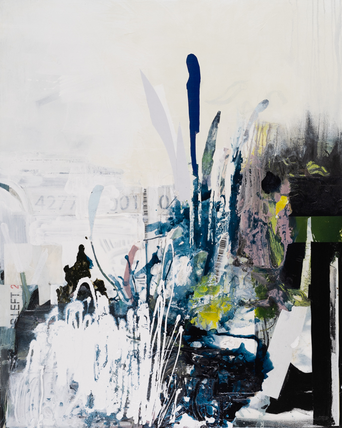 Laura Letchinger contemporary urban abstract expressionism painting INTERSECTION