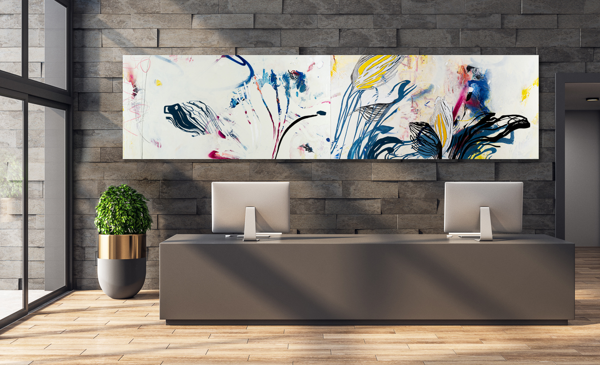 large contemporary urban abstract expressionism painting street graffiti edge Laura Letchinger FRESH