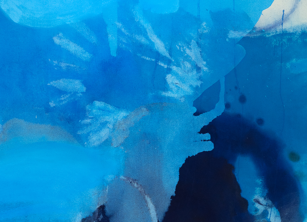 Laura Letchinger Oversized Blue Contemporary Abstract Painting detail3