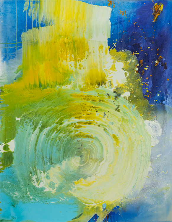 Large contemporary urban abstract water painting Laura Letchinger HURRICANE vertical