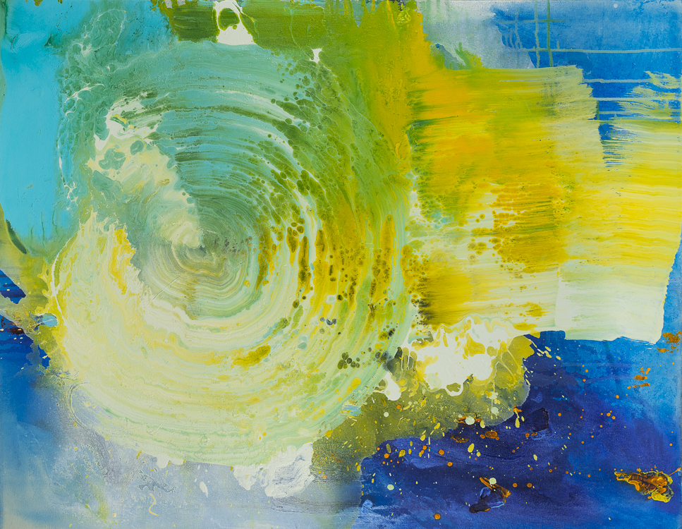 Large contemporary urban abstract water painting Laura Letchinger HURRICANE