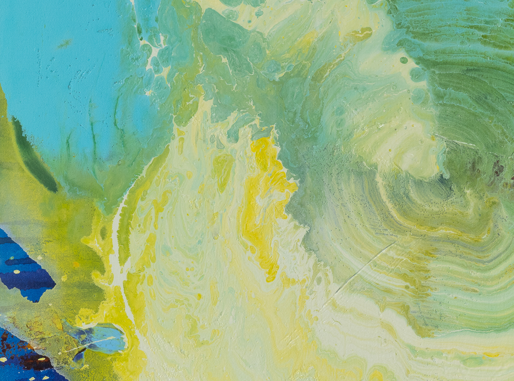 Large contemporary urban abstract water painting Laura Letchinger detail1