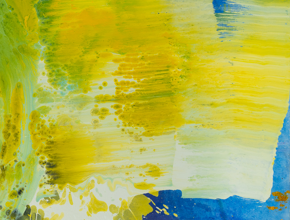 Large contemporary urban abstract water painting Laura Letchinger detail2