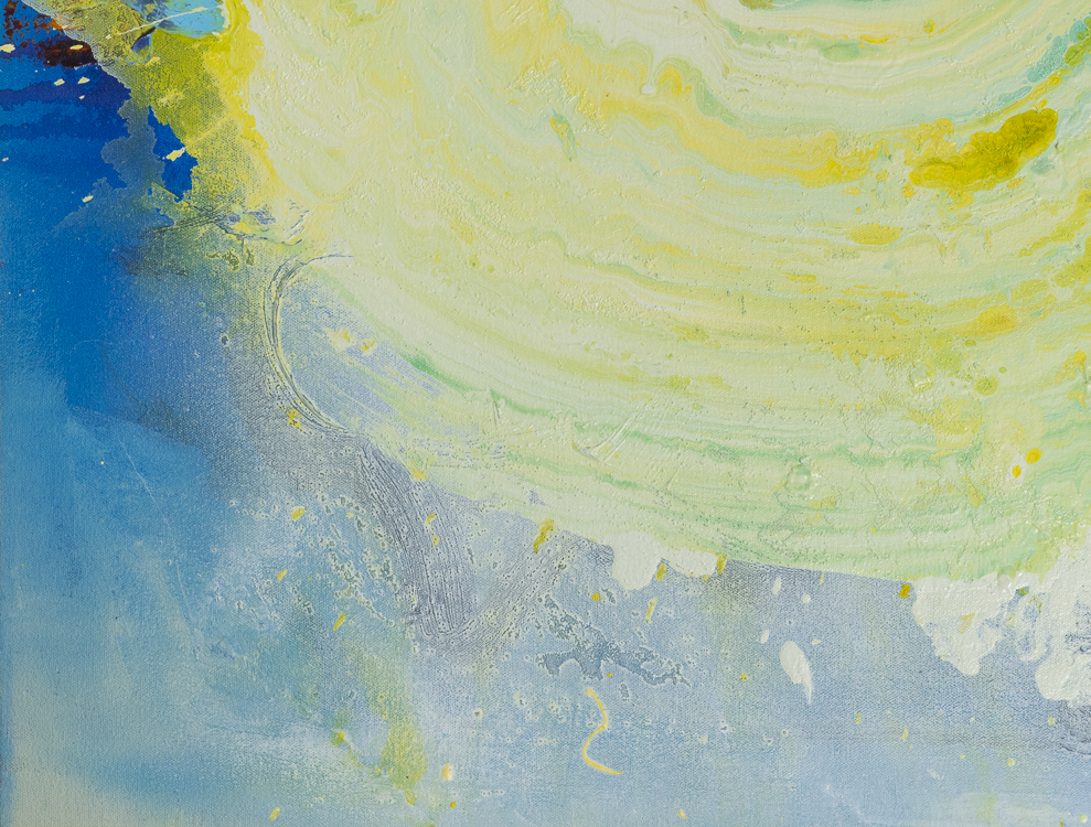 Large contemporary urban abstract water painting Laura Letchinger detail4