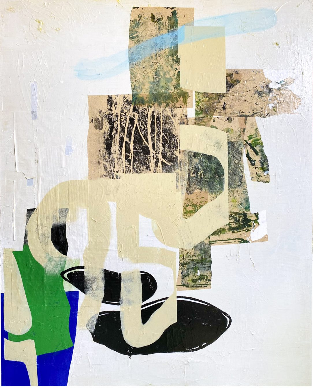 modern contemporary abstract painting urban street edge Laura Letchinger Los Angeles artist