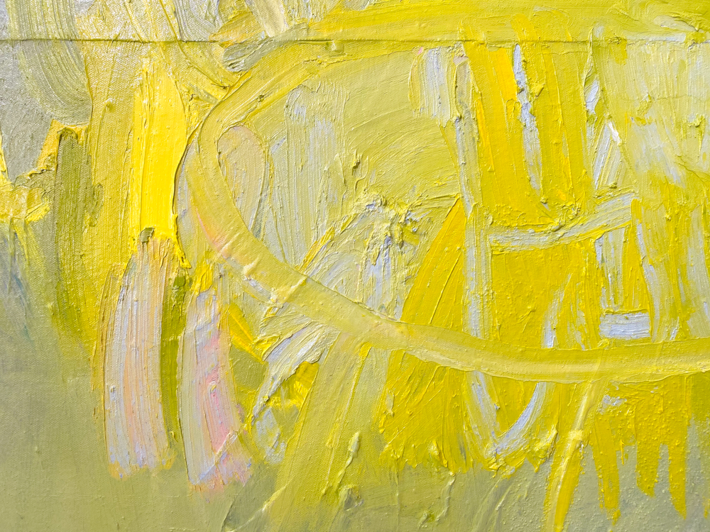 large yellow abstract painting los angeles artist Laura Letchinger POD detail 1
