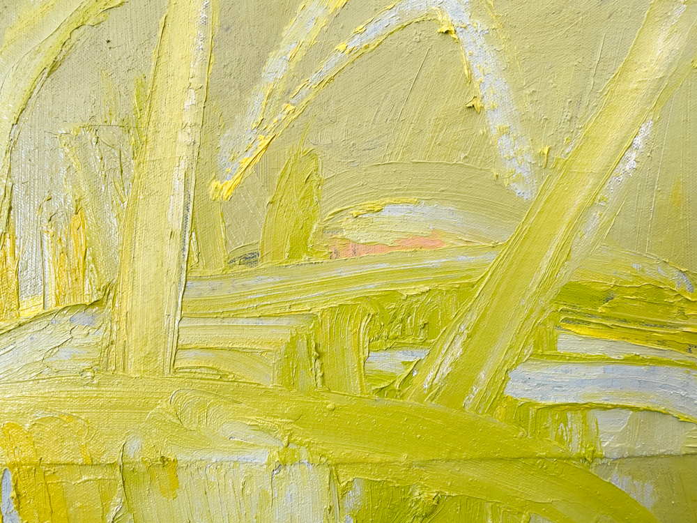 large yellow abstract painting los angeles artist Laura Letchinger POD detail 2