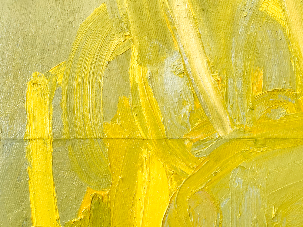 large yellow abstract painting los angeles artist Laura Letchinger POD detail 4