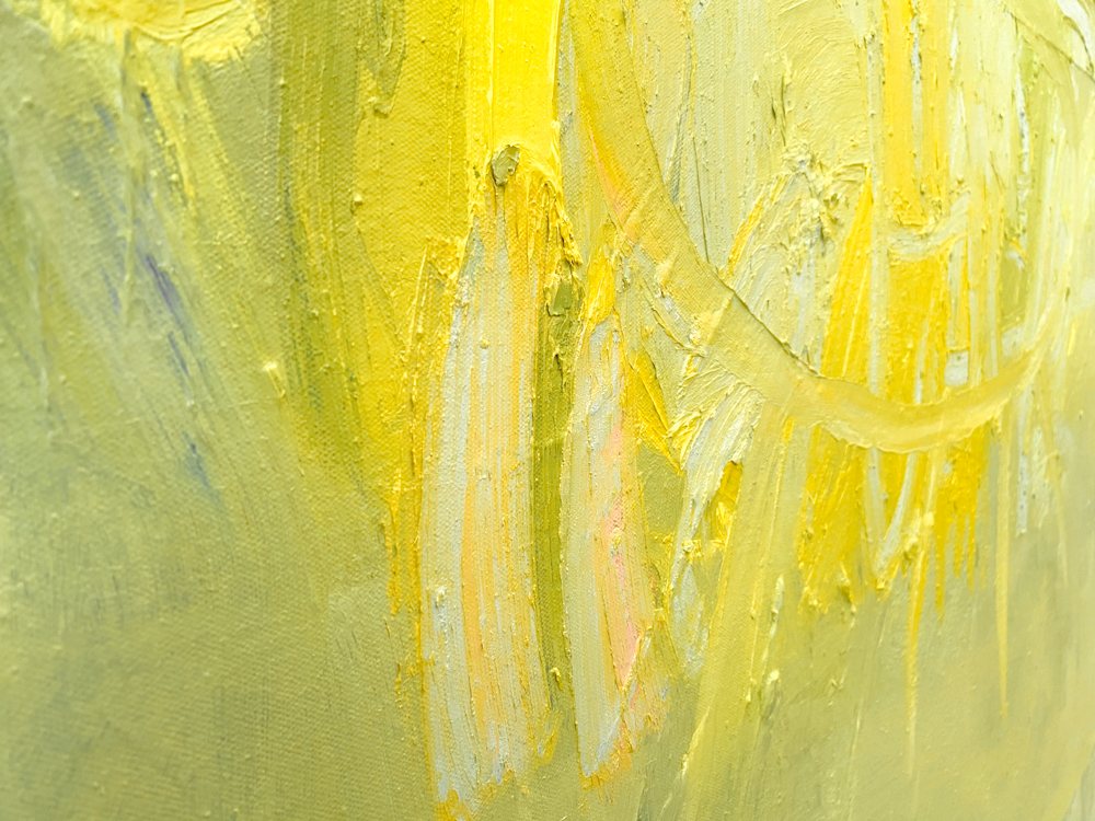 large yellow abstract painting los angeles artist Laura Letchinger POD detail 9