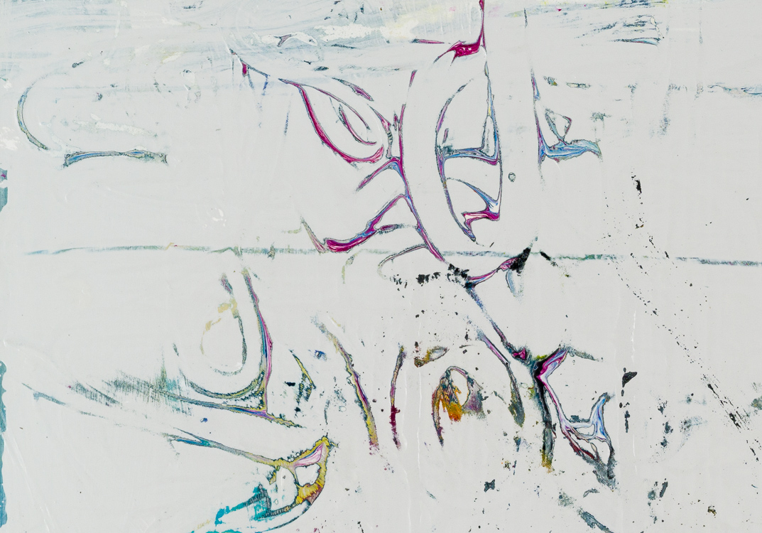 large gray minimalism contemporary abstract painting detail1