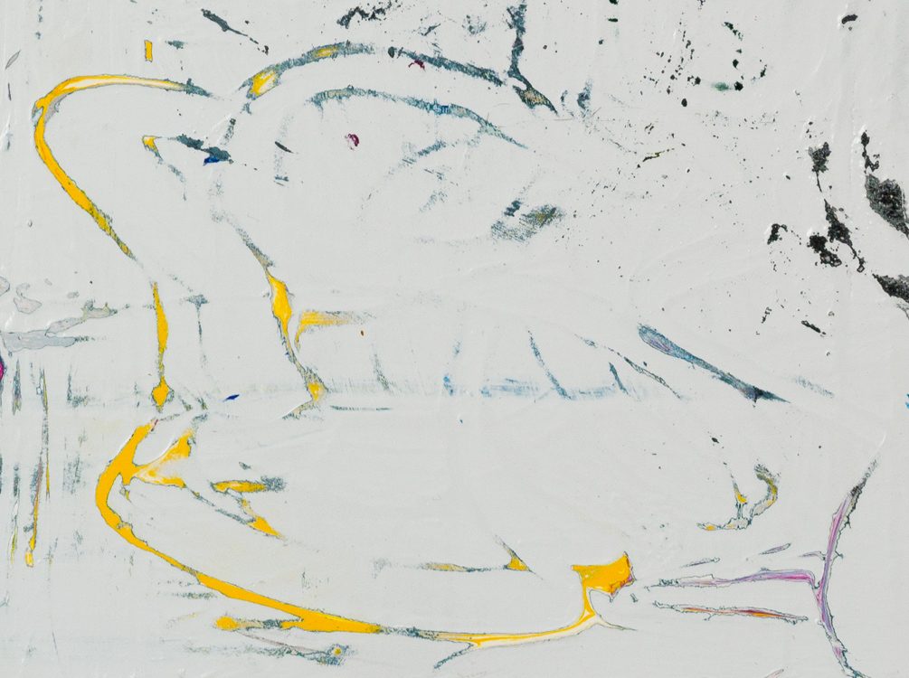 large gray minimalism contemporary abstract painting detail2