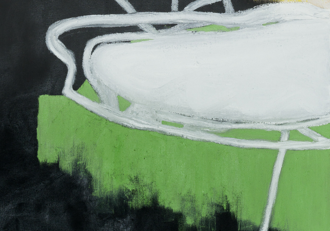 Extra large colorful urban contemporary abstract painting street graffiti edge detail3