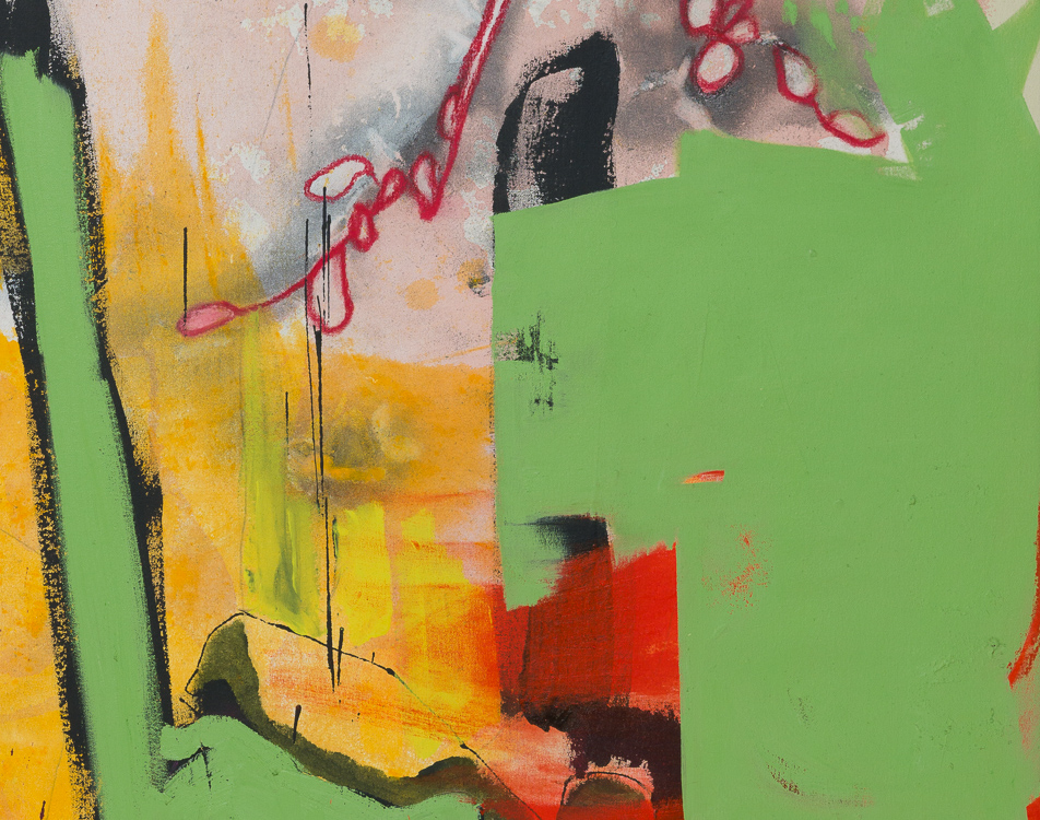 Extra large colorful urban contemporary abstract painting street graffiti edge detail5