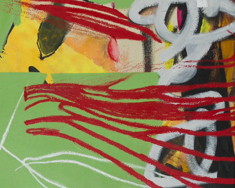 Extra large colorful urban contemporary abstract painting street graffiti edge detail6