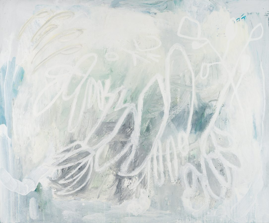 large white contemporary abstract painting Los Angeles artist Laura Letchinger