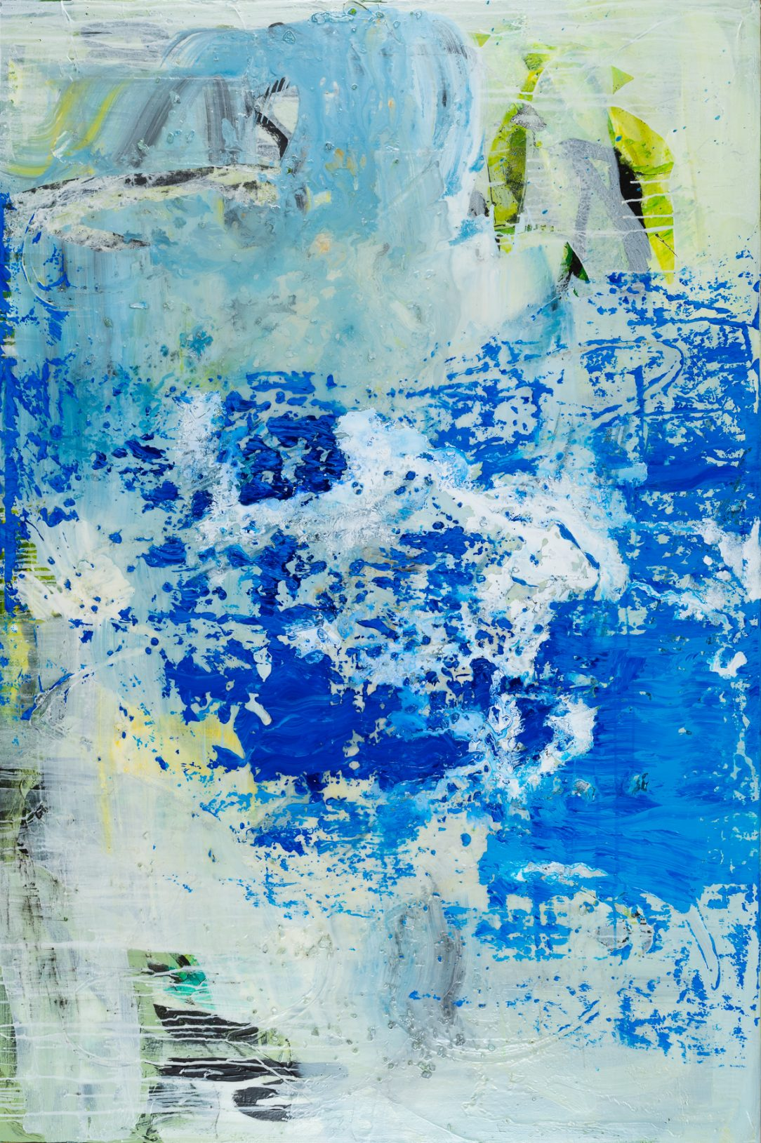 large blue contemporary urban abstract painting Los Angeles artist Laura Letchinger